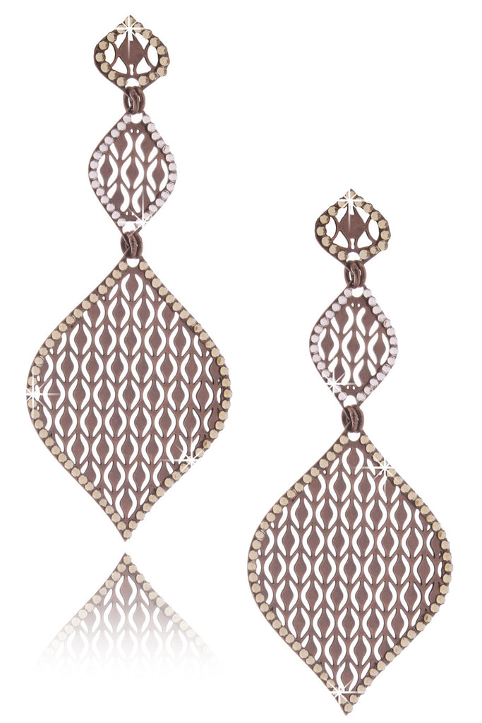 LK DESIGNS Bronze Two Drop Earrings