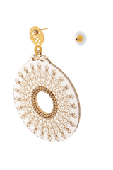 LK DESIGNS CLEAR WAVES Round Filigree Earrings