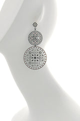 LK DESIGNS Double Lace Peach Earrings