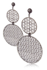 LK DESIGNS EMELIA Grey Crystal Earrings