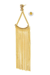 LK DESIGNS GAIA Long Gold Earrings