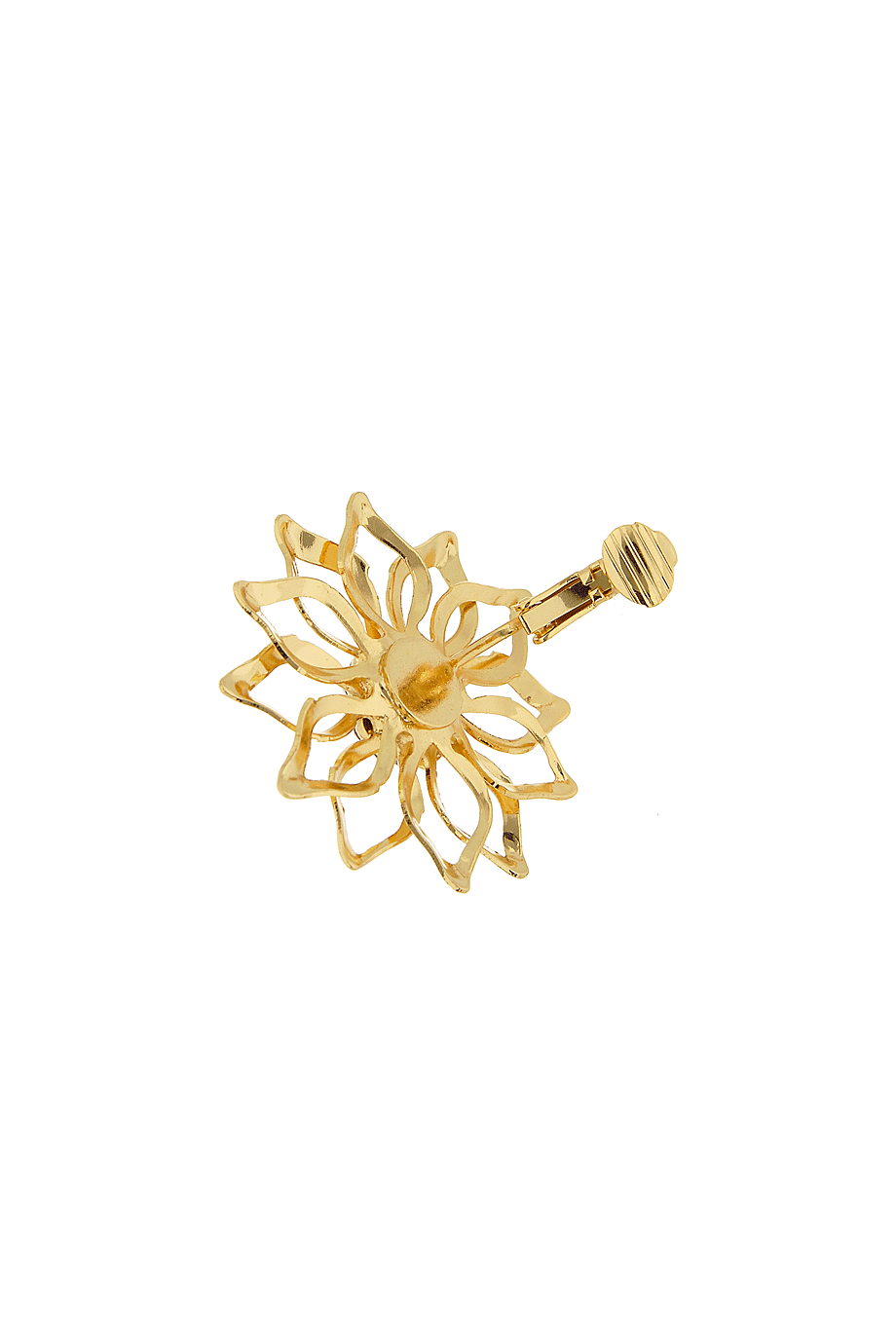 LK DESIGNS GOLD FLOWER Clip Earrings – PRET-A-BEAUTE.COM