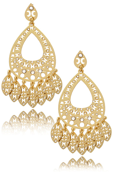 LK DESIGNS GOLD RAIN Chandelier Earrings