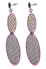 LK DESIGNS GOTHIC Pink Earrings