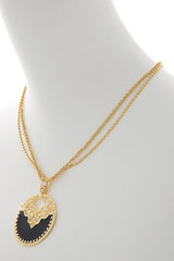 LK DESIGNS Gold Black Harem Pendant