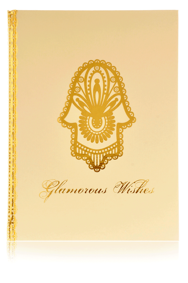 LK DESIGNS HAMSA Large Golden Notebook