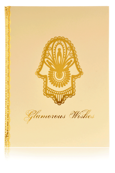HAMSA Large Golden Notebook