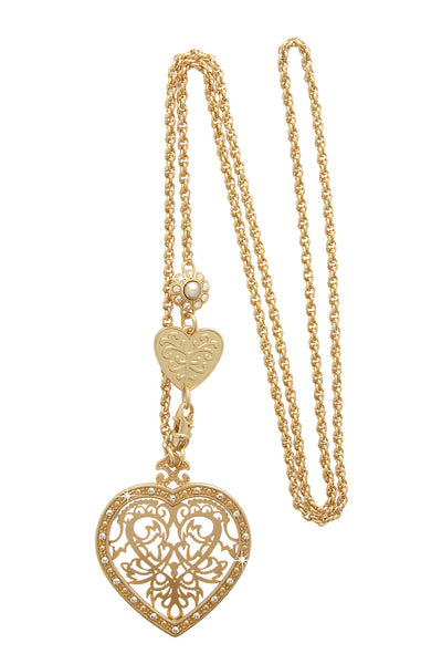 HEART Gold Filigree Pendant