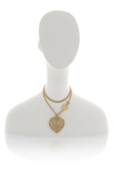 LK DESIGNS HEART Gold Filigree Pendant