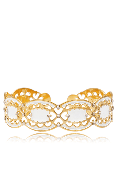 IVORY REFLECTION Crystal Bangle