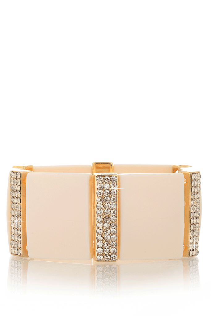 LK DESIGNS IVORY REFLECTION Crystal Bracelet