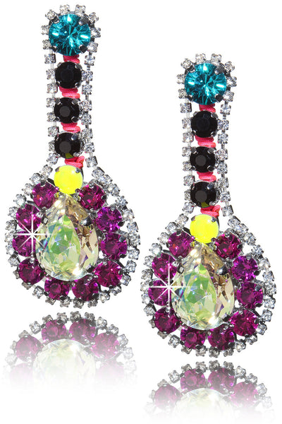 LK DESIGNS MAGDALENA Crystal Earrings