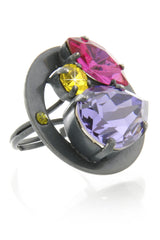 LK DESIGNS Multi Crystal Ring