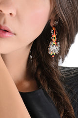 LK DESIGNS NEON PASSION Crystal Thread Earrings