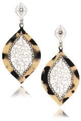 LK DESIGNS SADE Tortoise Crystal Earrings