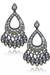 LK DESIGNS SILVER RAIN Chandelier Earrings
