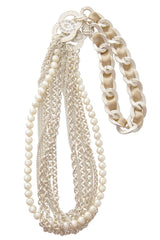 LK DESIGNS Silver Beads Long Necklace