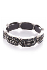 LK DESIGNS Silver Oval Elements Bracelet