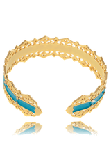 LK DESIGNS TURQUOISE DREAM Gold Bracelet