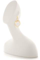 LK DESIGNS WILD White Crystal Earrings