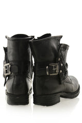 VERONIC Black Studded Boots