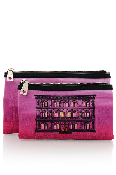 LOVE MOSCHINO Woman Beauty Case Set - PALAZZO Pink Beauty Case Set