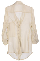 AMINTA Nude Long Sheer Shirt