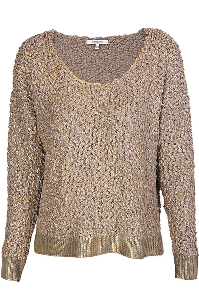 CELIANA Metallic Gold Knit Jumper