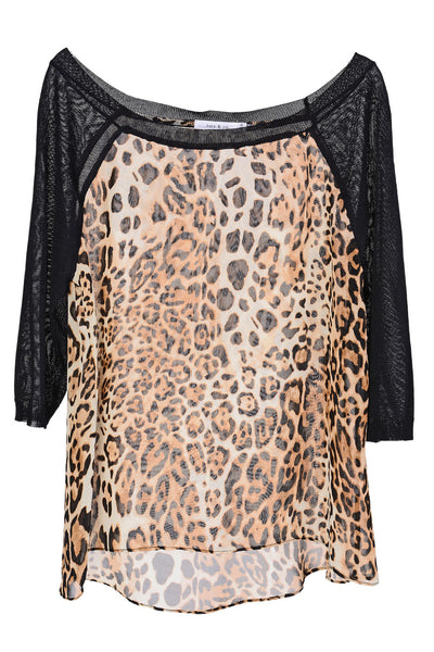 CYBELE Leopard Sheer Blouse
