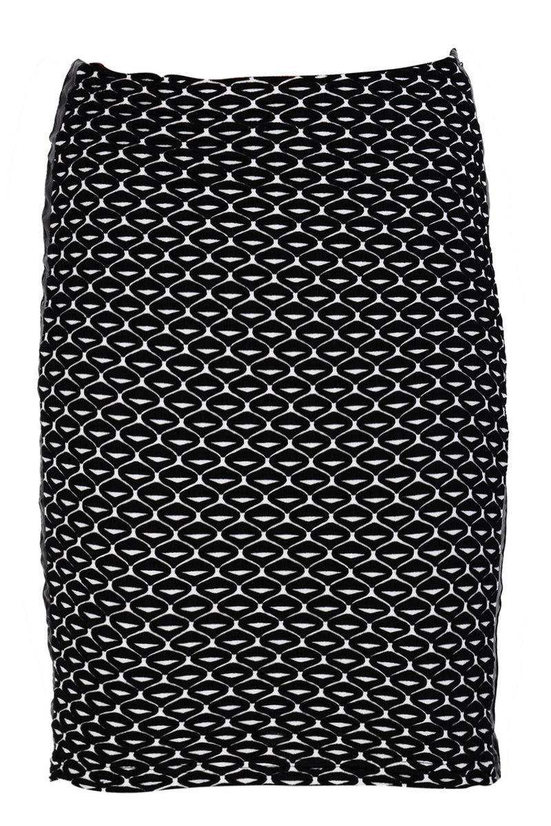 IRIDA Black White Elastic Skirt