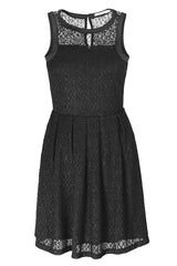 LUCY PARIS MISMA Black Lace Sleeveless Dress
