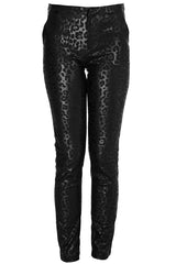 REINA Metallic Black Leopard Pants
