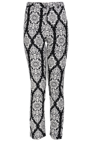 SILA Black White Printed Pants