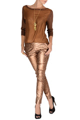 TAMILA Bronze Sheer Blouse