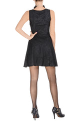 LUCY PARIS TARYN Black Sleeveless Lace Dress