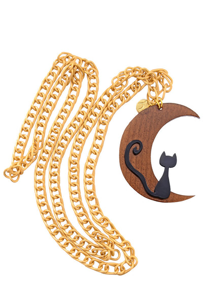 MOONCAT Brown Chain Pendant