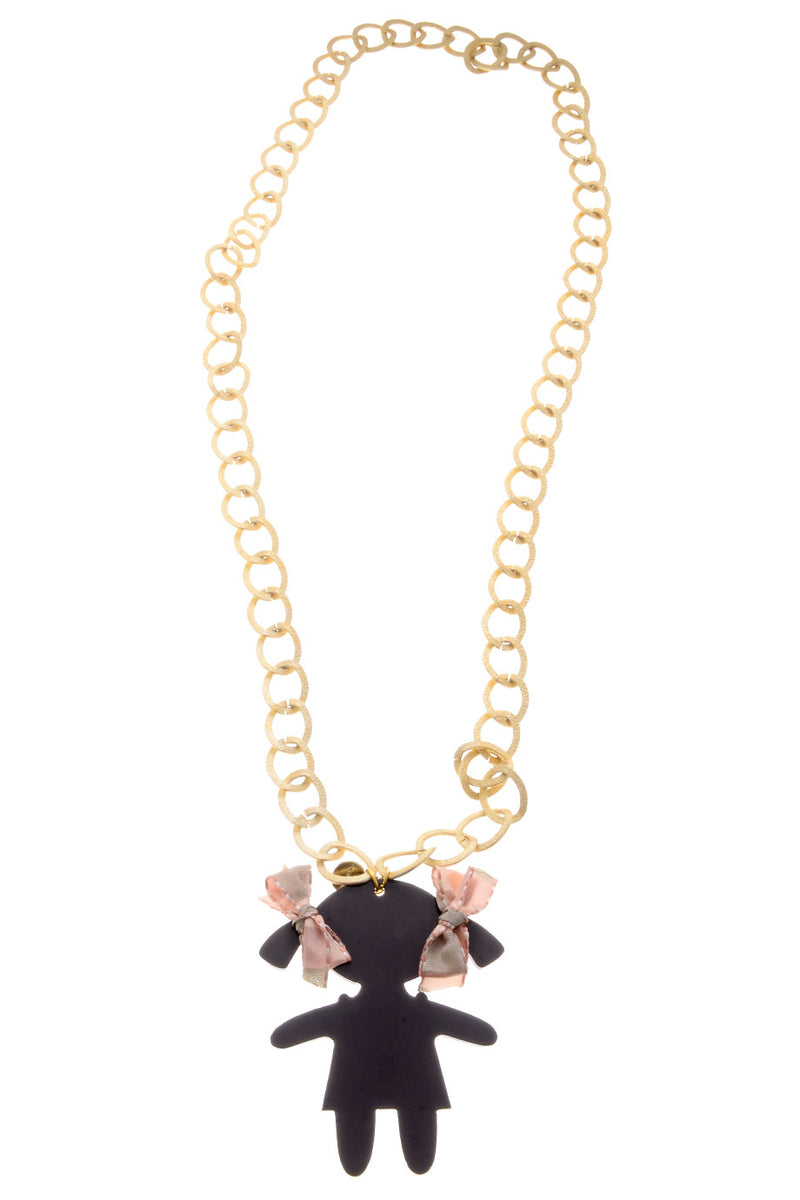 RAGAZZA Brown Gold Chain Pendant