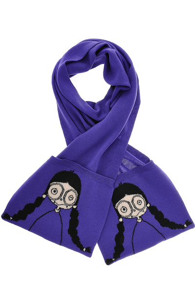 MISS MARC Purple Wool Woman Scarf