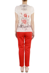 ELEGANT Red Chino Pants