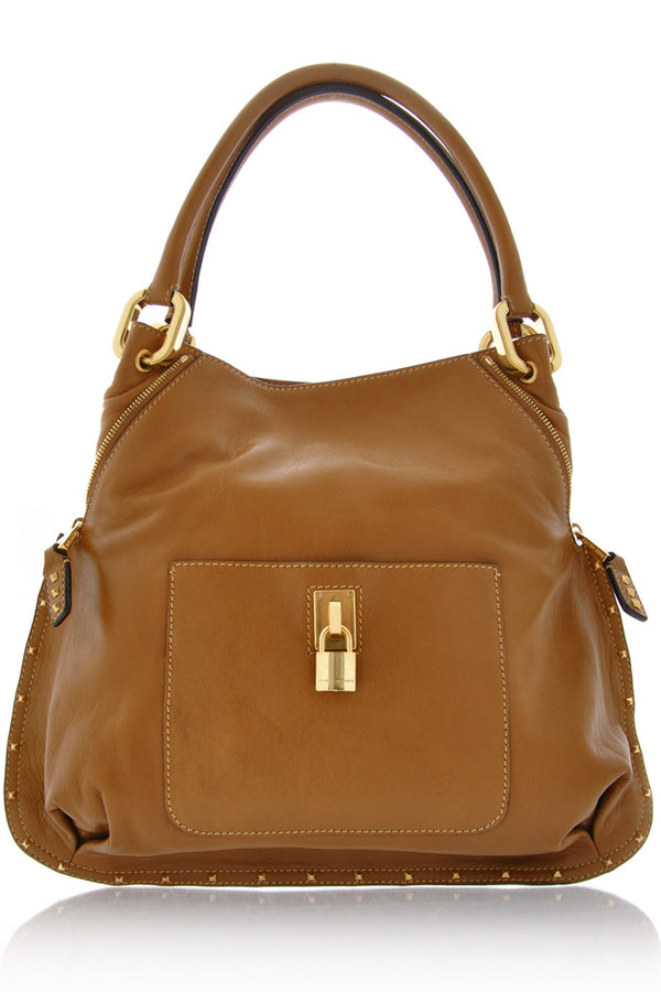 PARADISE Camel Leather Tote
