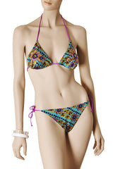 BRODERIE Green Purple Sequin Bikini