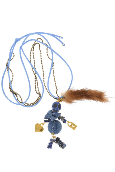 PARIS INES Denim Puppet Pendant