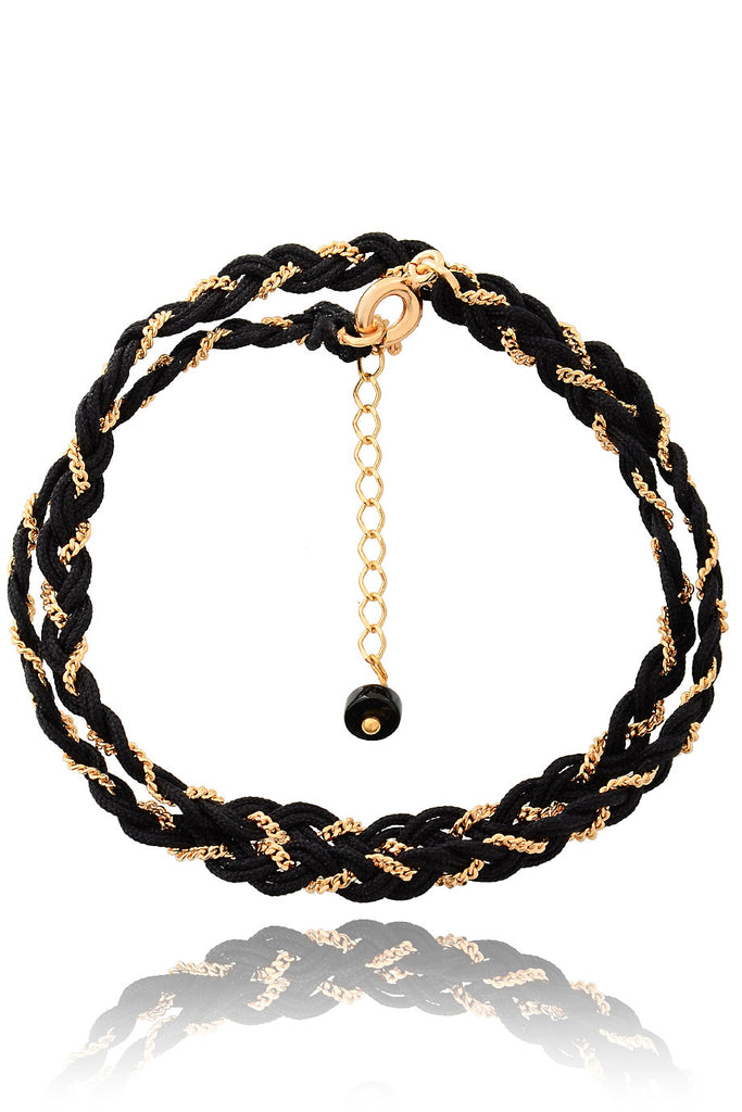 PARIS NILENA Black Braided Bracelet