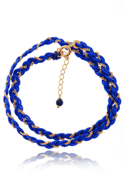 PARIS NILENA Indigo Blue Braided Bracelet