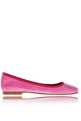 FUCHSIA Snake Leather Ballerinas