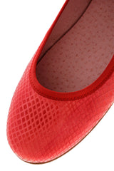 WATERMELON Snake Leather Ballerinas