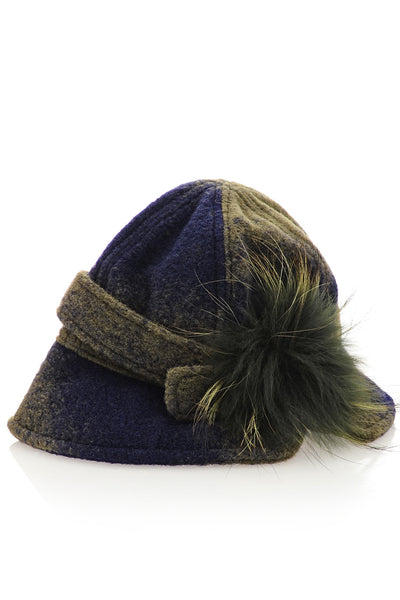 AVERY Blue Ombre Cloche Hat