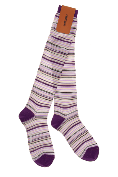MISSONI GAMBALETTO Purple Lined Socks