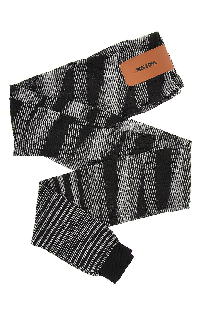 MISSONI LINES Black Woven Leggings