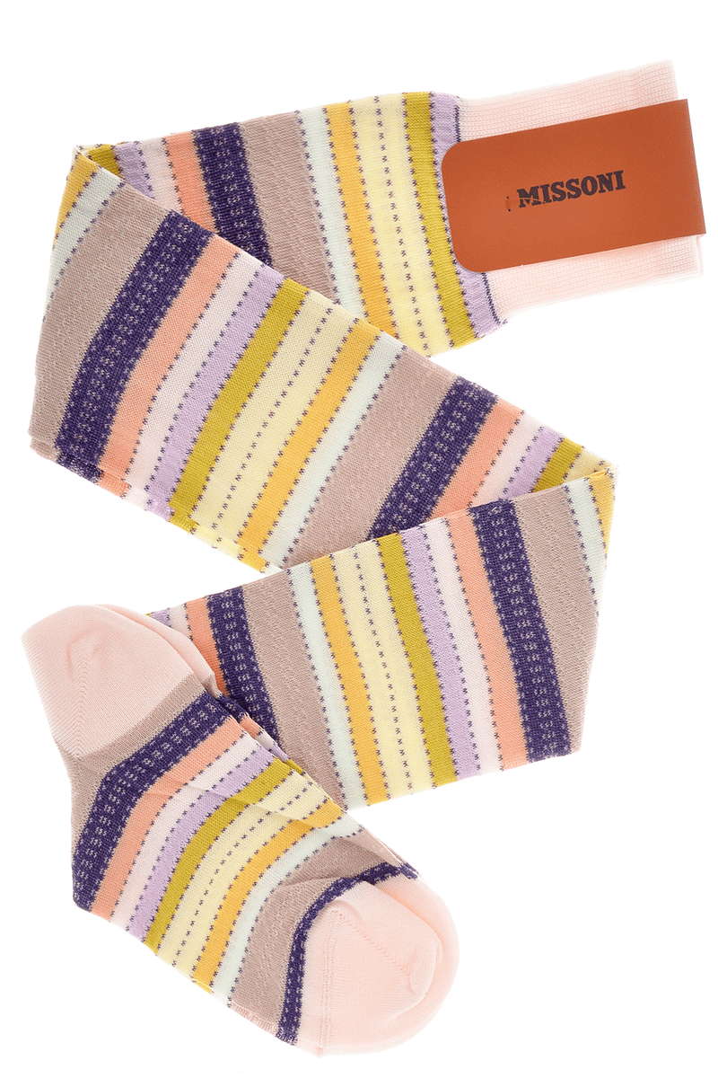 MISSONI STRIPES Beige Over The Knees